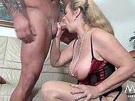 Mature female from Germany couldn't imagine that today she would be fucked by big bodybuilder 7