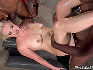 Black dudes got tired of playing cards and released white slut who was locked in the cell 9