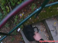 Teenage Czech with golden hair got highly paid for pleasing a dick in the park 10