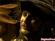 Пираты закатили пир на палубе корабля, который увенчался жаркой групповой еблей 5