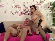 Grey-haired tempter bonked BBW who had tight vagina in spite of her chubby body 6