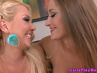 Stunning porn actress Dani Daniels tastes sexy pussy of experienced colleague Aaliyah Love 11
