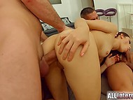 Lady is very brave because she allowed two dicks to fuck her at the same time 6