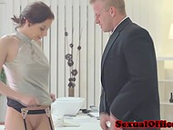 Boss and secretary took a break for relaxing coitus and then returned to their duties 11