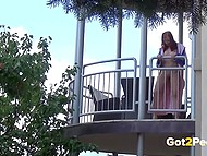 Pissing compilation featuring shameless girls relieving themselves in public places 11