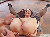 Dark-haired girl tired of ordinary sex and decided to she decided to try anal 8