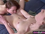 Two stunning teen lesbians tired of video games and decided to lick each other's snatches 8