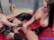 Fiery friends Christy Mack and Alektra Blue gratify each other's pussy in the punishment room 11