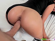 Latina doll loves girls but she doesn't turn down the opportunity to fuck big cock 4