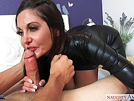 Shaggy boy dreamed about his voluptuous stepmother Ava Addams wore latex suit and rode his fuckstick 5