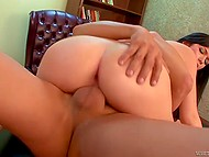 Boss was going to fire Ashlyn Rae but her delicious pussy made him change his mind 7