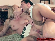 Seductive secretary concluded boss needed enjoyable sex but not coffee to relax 10