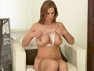 Elegant lady with big tits tries hard on camera to show all the best of herself 7