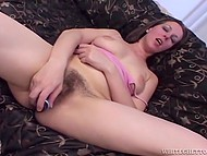 Torrid girl has combed her pubic hair and now she is totally ready to get big guy's cock inside