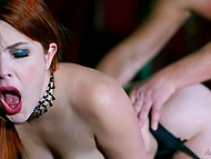 Gorgeous red-haired cutie has sex with swain in the beautiful room of a medieval castle 6