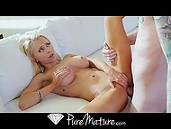 Blonde-haired lovely Alix Lynx was seducing nerdy and finally obtained dick in mouth and vag 10