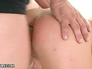 Trouble-free whore's feelings got stronger as more dicks penetrated her cracks 7