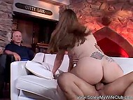 Husband's cock doesn't work, that's why he invites a young lover for his wife 4