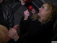 Curly blonde, who sucked stranger's cock in the car, became the hero of German host's report 11