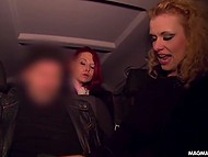 Curly blonde, who sucked stranger's cock in the car, became the hero of German host's report 7