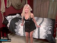 Blonde-haired old lady is sixty-four-year-old but still likes to play with herself 3