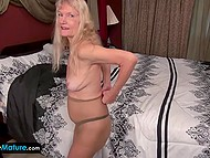 Blonde-haired old lady is sixty-four-year-old but still likes to play with herself 8