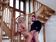 Unshaved man has just bought the house of his busty wife's dream and now gets thanked a lot 4
