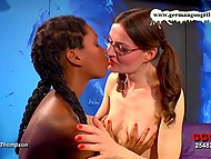 Tall German slut helps teenage Ebony girl with braids to deal with many hard things 6