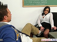It was too easy for muscular student to excite astounding teacher Kendra Lust and prevail upon her to fuck 4