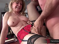 Persistent bloke persuaded big-boobied stepmother that she need to fuck him instead of stepfather 10