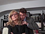 Persistent bloke persuaded big-boobied stepmother that she need to fuck him instead of stepfather 4