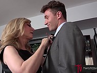 Persistent bloke persuaded big-boobied stepmother that she need to fuck him instead of stepfather 5