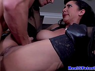 Fiery fetishist rides another firm dick of bald tempter in front of shocked older husband 10