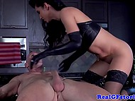 Fiery fetishist rides another firm dick of bald tempter in front of shocked older husband 7