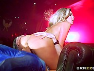 Stripper hadn't whirl around such a huge pole that excited client presented her right at night club 10