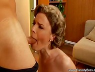 Hard-working dude licks mature woman's vagina and sweats plenty moving firm thing inside it  4
