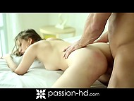 Experienced guy skilfully brings the mistress to squirting and cums in her mouth after 10