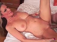Mature woman with big natural tits and smooth vagina rides gentleman's rod 11