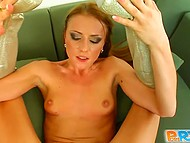Brave whore dressed like a fireman courageously sat down on steadfast pecker 9