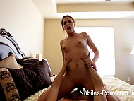 Enchanting Abby Paradise's hands, lips, and pussy worked together and made penis cum 11
