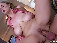 High-quality scene of furious sex starring big-boobied MILF and tattooed bodybuilder 7