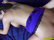 Latina with braces on teeth gives her pussy and ass to a boy and gets some sperm on anus 8
