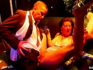 Exciting music and a lot of alcohol turned club party into interracial group sex 3