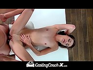 Young brunette babe did excellent work at the casting and she liked the porn agent 10