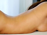 Skillful masseur flexed vagina of dazzling auburn-haired babe and came on her feet 5