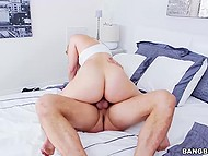 Delightful blonde missed a lot her boyfriend and now she vigorously rides his cock 10