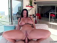 Juicy MILF with huge tits and big butt puts asshole on the way of hard penis 10