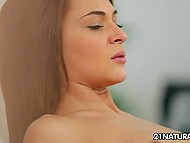 Dude distracted attractive hottie from morning yoga to have sex on soft carpet 10