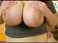 Fat mature woman feels amazing with solid young phallus inside her vagina 4