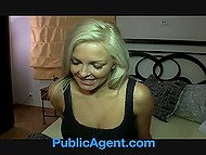 Porn agent picked up remarkable girl in the street and offered her some money for unusual photo session 5